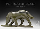 "RESERVED** 11"" Scenting Wolf by Famous Paul Kavik"