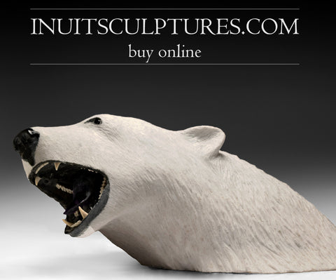 "NFS 30"" - 180 Lbs Polar Bear by World Famous Paul Quviq Malliki"