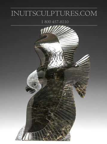 "RESERVED** 9"" Eagle with Fish by Pitseolak Qimirpik"