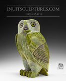"11"" Pink Apple Green Owl by Pitseolak Qimirpik"