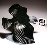 "7.5"" Eagle with Fish by Pitseolak (Pits) Qimirpik"