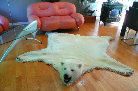 Original Polar Bear Skin Rug