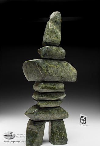 "21"" Powerful Inukshuk by Qavavau Shaa"