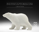 "9"" White Marble Walking Bear by Tim Pee"