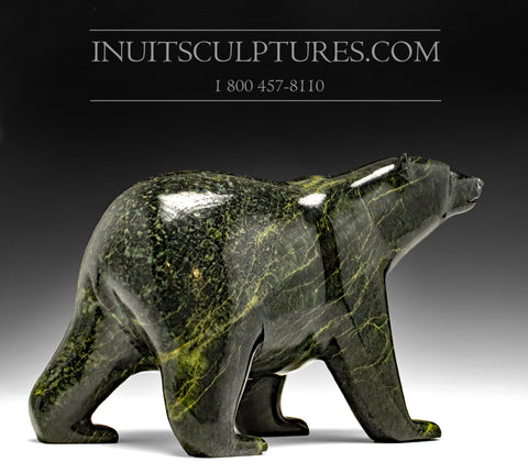 "11"" Dark Prowling Walking Bear by Tim Pee"