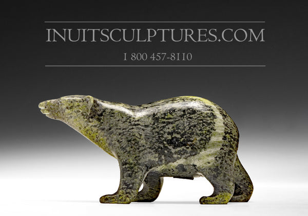 "RESERVED** 4.5"" Striped Walking Bear by Tim Pee"