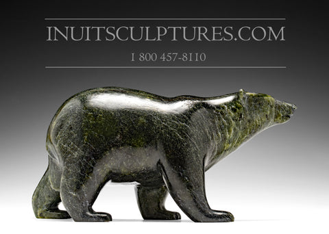 "10"" Dark Green Prowling Walking Bear by Tim Pee"