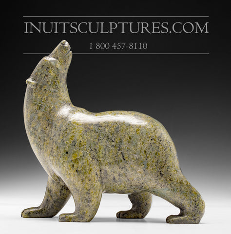 "6.5"" Green Walking Bear by Tim Pee"