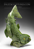 "22"" Electric Green Arctic Char Fish by Toonoo Sharky"
