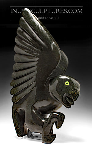 "26"" Monumental Dancing Black Bird by Famous Toonoo Sharky"