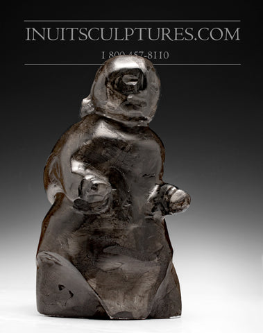 "8"" Mother and Child by Famous Inuit Art Pioneer Tuna Iqulik, 1997"