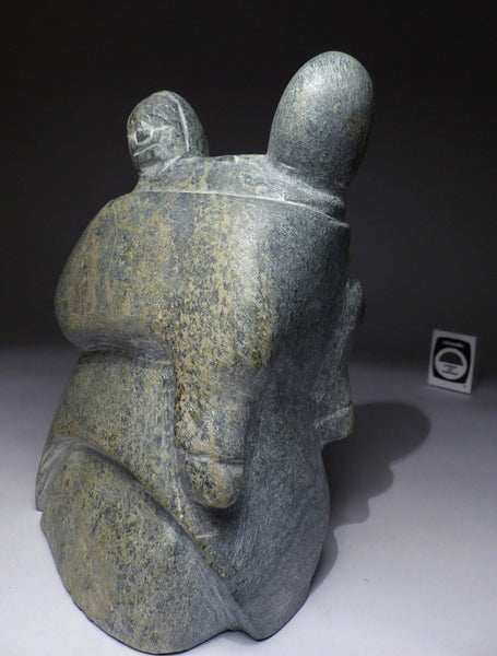 "8"" Mother and Child by Famous Inuit Art Pioneer Tuna Iqulik, 1999"