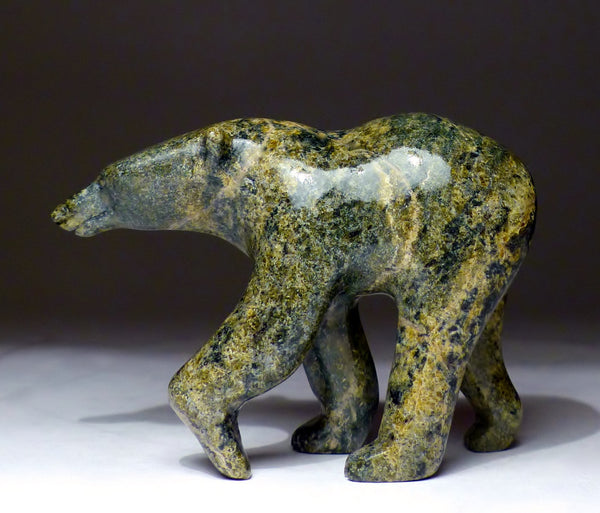 "5"" Rare Walking Polar Bear by the Late Noo Atsiaq"