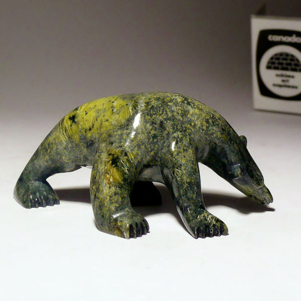 "3.5"" Walking Bear by Mosesee Pootoogook"