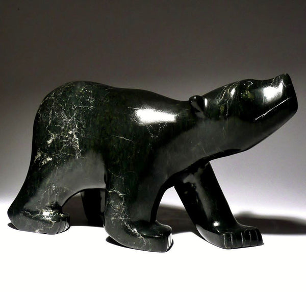 "9"" Black Scenting Bear by Tim Ezekiel"