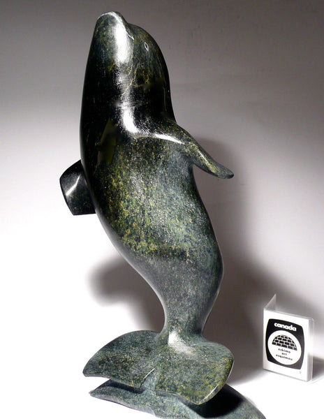 "10"" Dancing Beluga Whale by A. Tikivik – Inuit Sculptures ..."