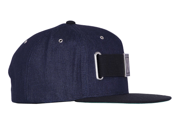 Raw Denim Strap Hat