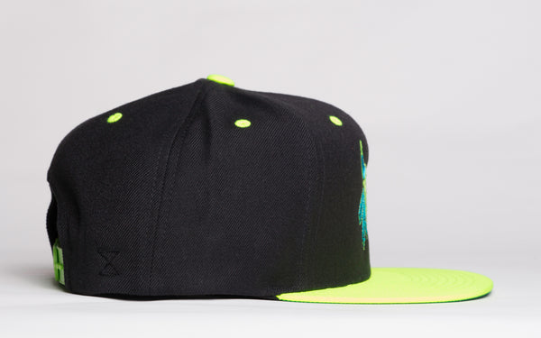 Chicago Beast Snap Back | NEON GREEN / BLACK