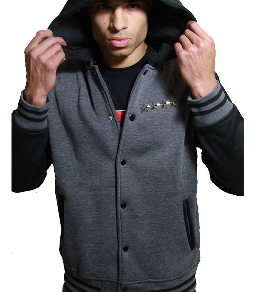 Chicago Beast | Varsity Hoodie | Charcoal and Black