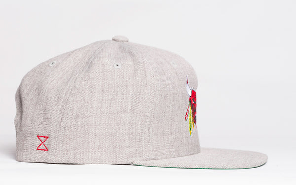 Classic Chicago Beast Snap Back | Heather Grey