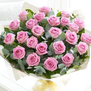 24 Pink Roses Bouquet - Fresh Blooms Flowers