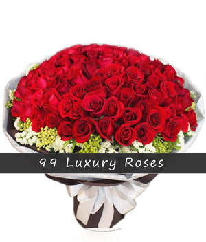 99 Roses Bouquet - Fresh Blooms Flowers