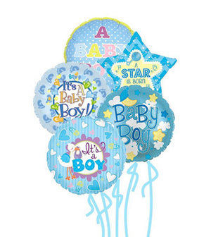 Baby Boy Balloon Bunch - Mylars