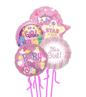 Baby Girl Balloon Bunch - Mylars