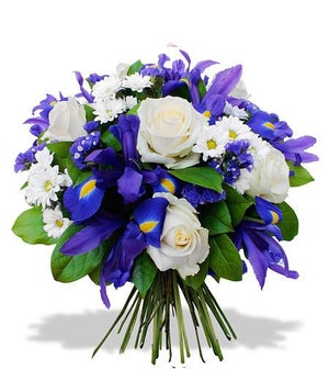 Blue Cloud Bouquet - Fresh Blooms Flowers