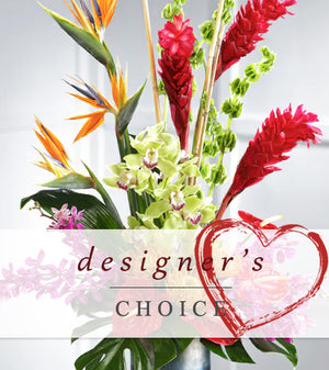Designer Choice Valentine Tropical Arrangement