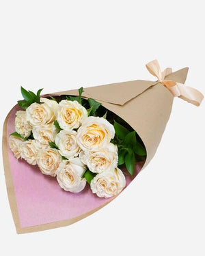 Peach Roses Special - Fresh Blooms Flowers