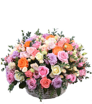 Rose Garden Basket