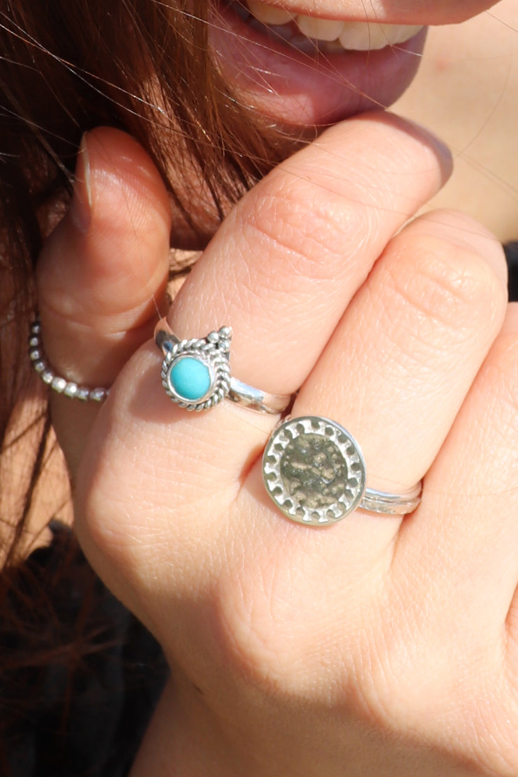 Turquoise Pinnacle Ring