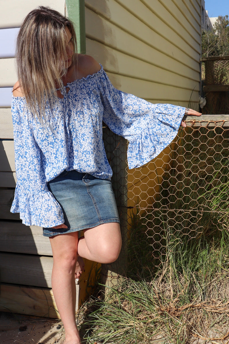 Bella Top BLOSSOM BLUE