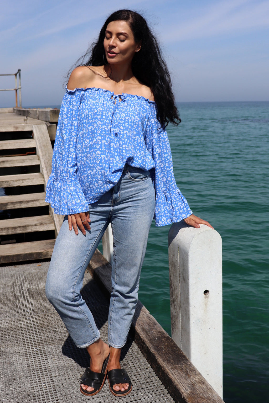 Bella Top MAYA BLUE