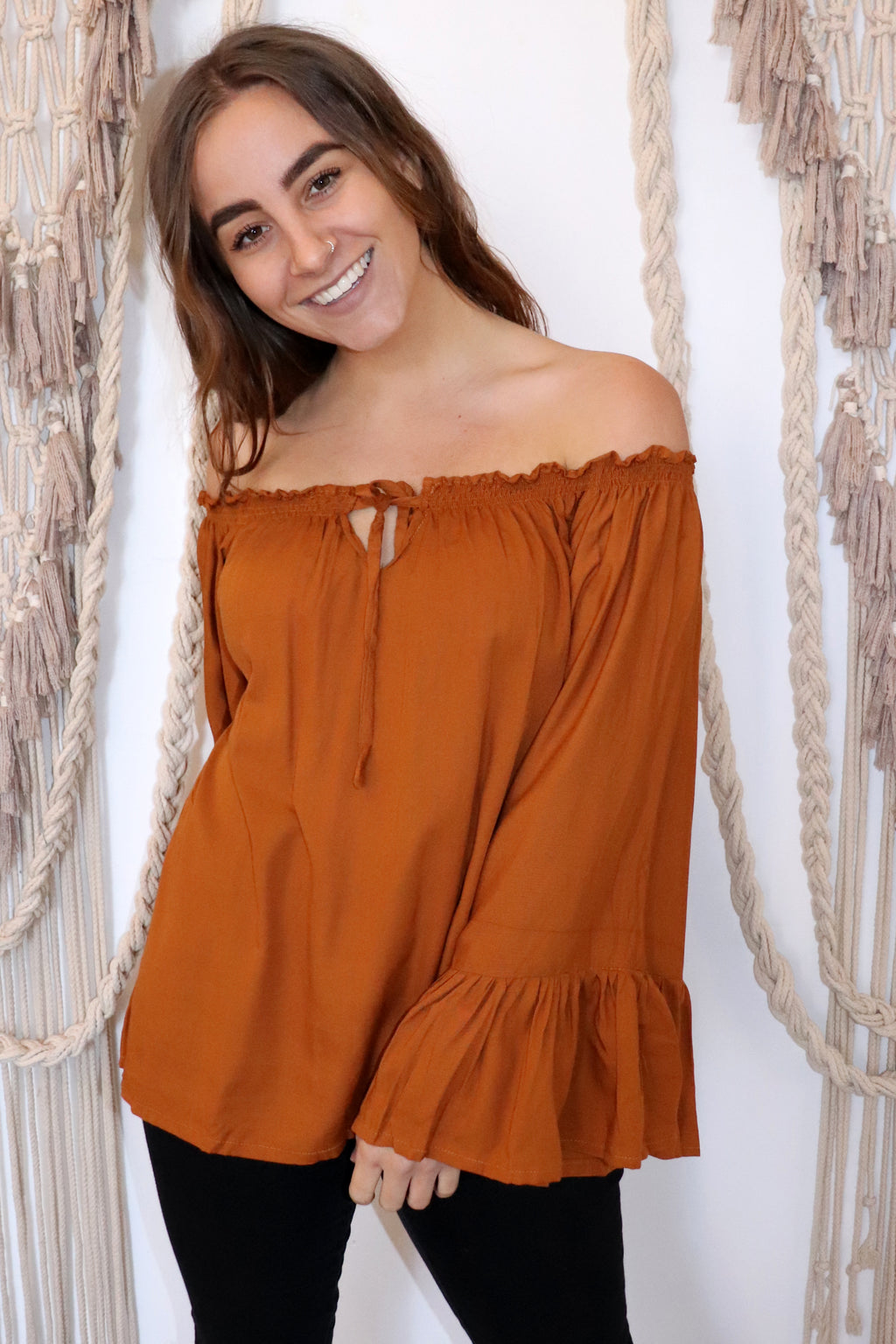 Bella Top BURNT ORANGE