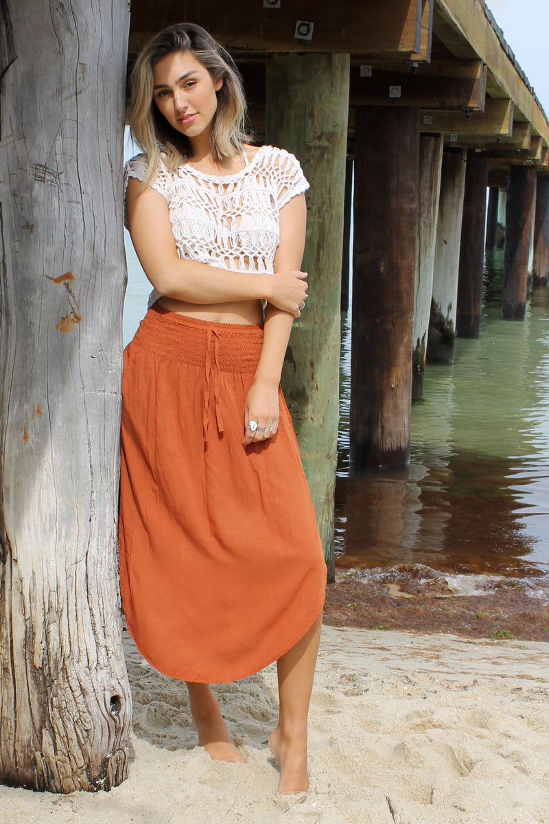 Samsara Skirt BURNT ORANGE
