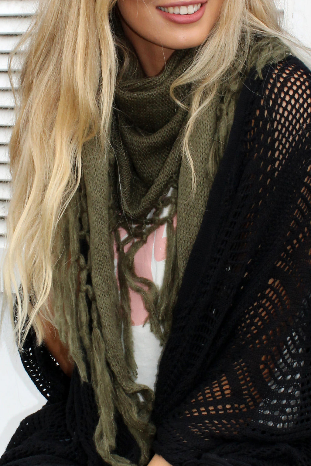 Zodiac Scarf KHAKI - Bijou The Label | Bohemian | Maternity Fashion | ONE SIZE FITS ALL | Kaftan | Poncho | Kimono | Cape