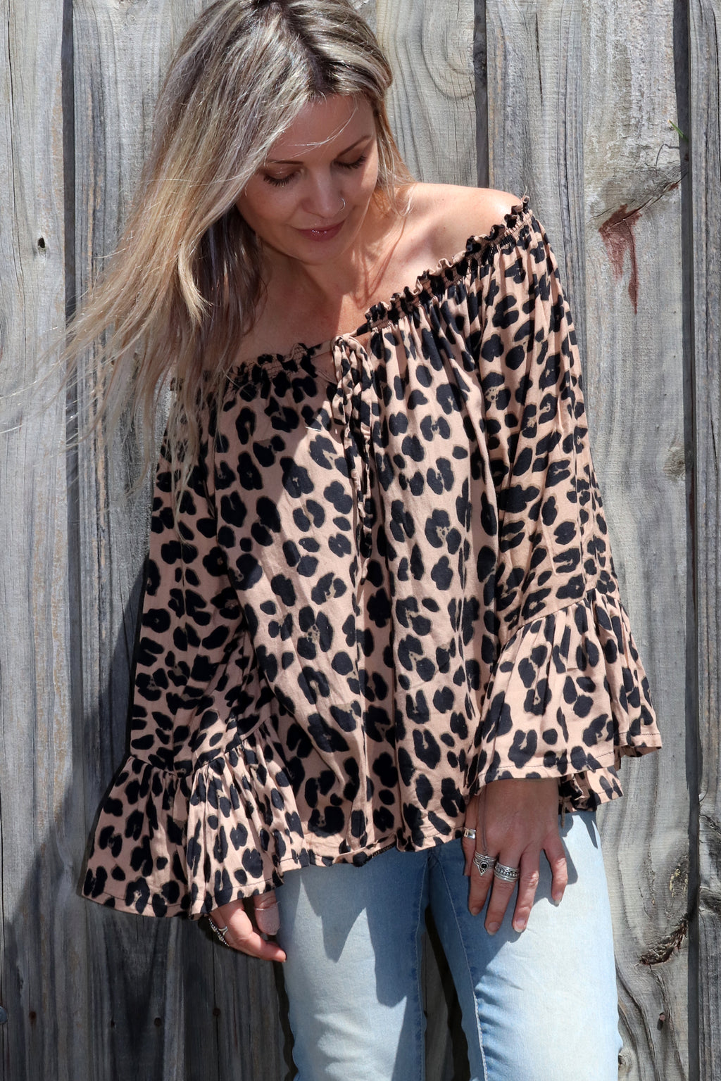 Bella Top DARK LEOPARD