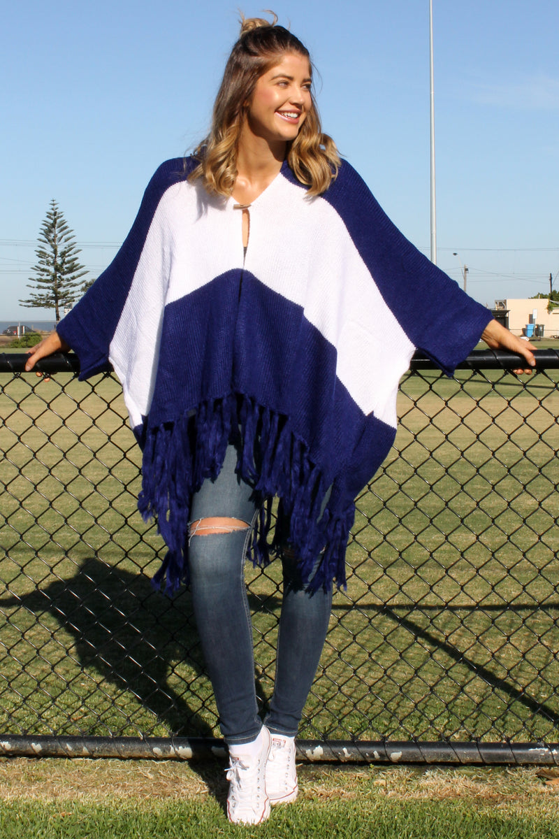 Mystify Fanatic Knit NAVY & WHITE