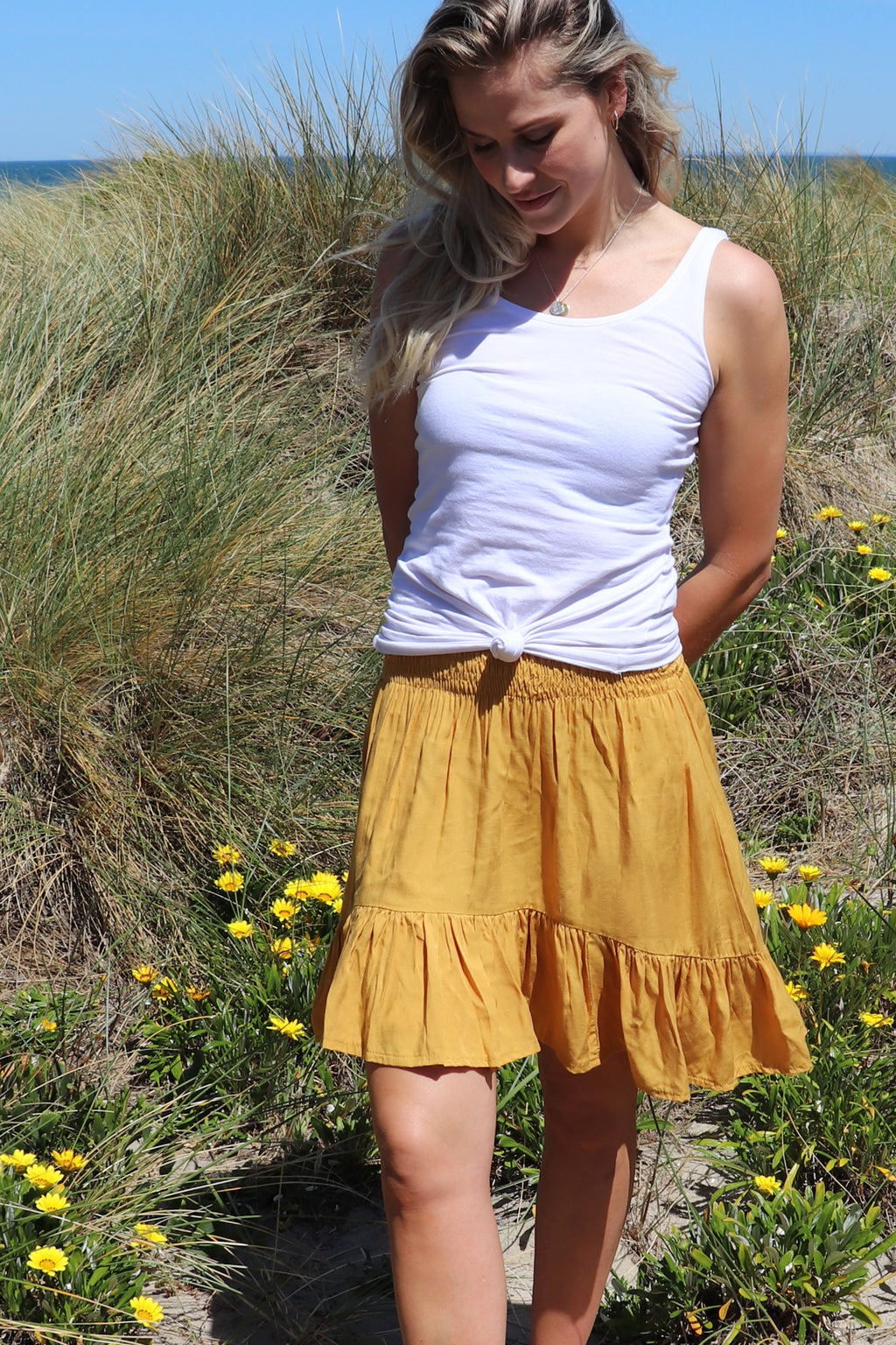 SAMPLE Savannah Skirt Mustard