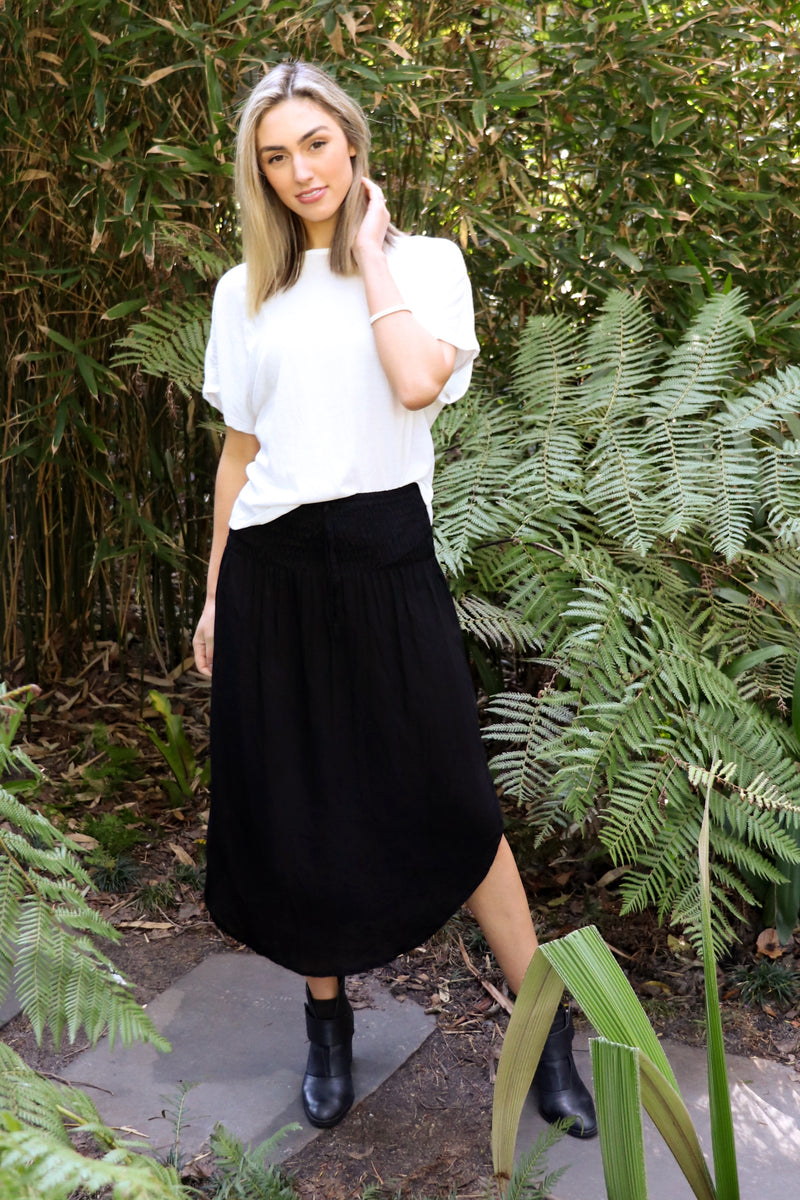 Wild & Free Skirt BASIC BLACK