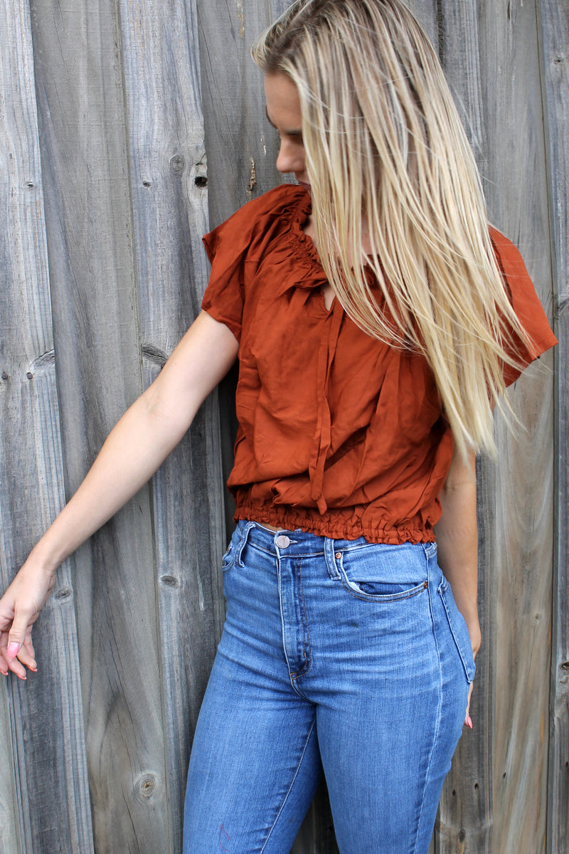Sample Savannah Top TERRACOTTA