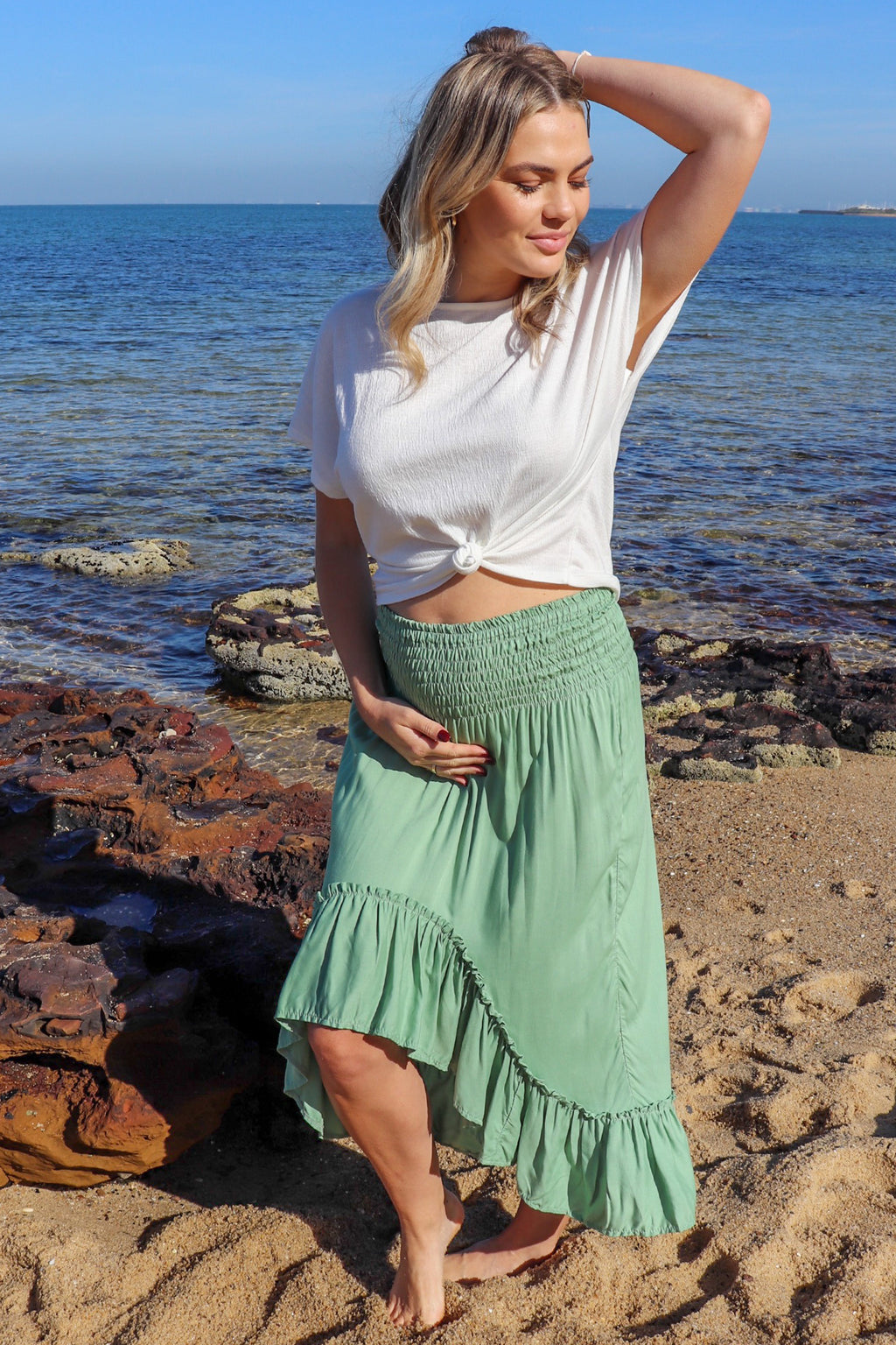 Wild & Free Skirt HONEYDEW