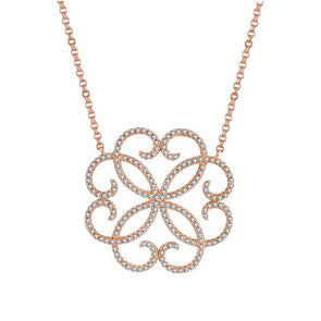 Sacred Geometry Pendant Rose Gold