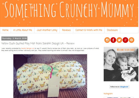 Something Crunchy Mummy blog review SARAHK duck playmat