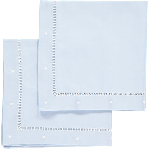 Light Blue Linen Napkins - Set of 4