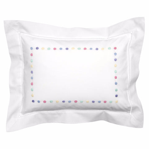 Multicolour dots baby pillowcase