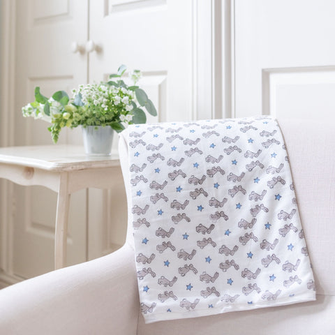 Blue Bunny Cotton Blanket