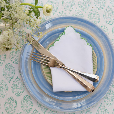 Green Mini Scallop Napkin